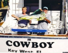 Jeff Weust with his trophy Dolphin
