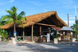 Tiki Hut Entrance of the Hogfish