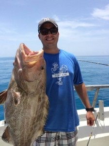Grouper caught using live pin fish